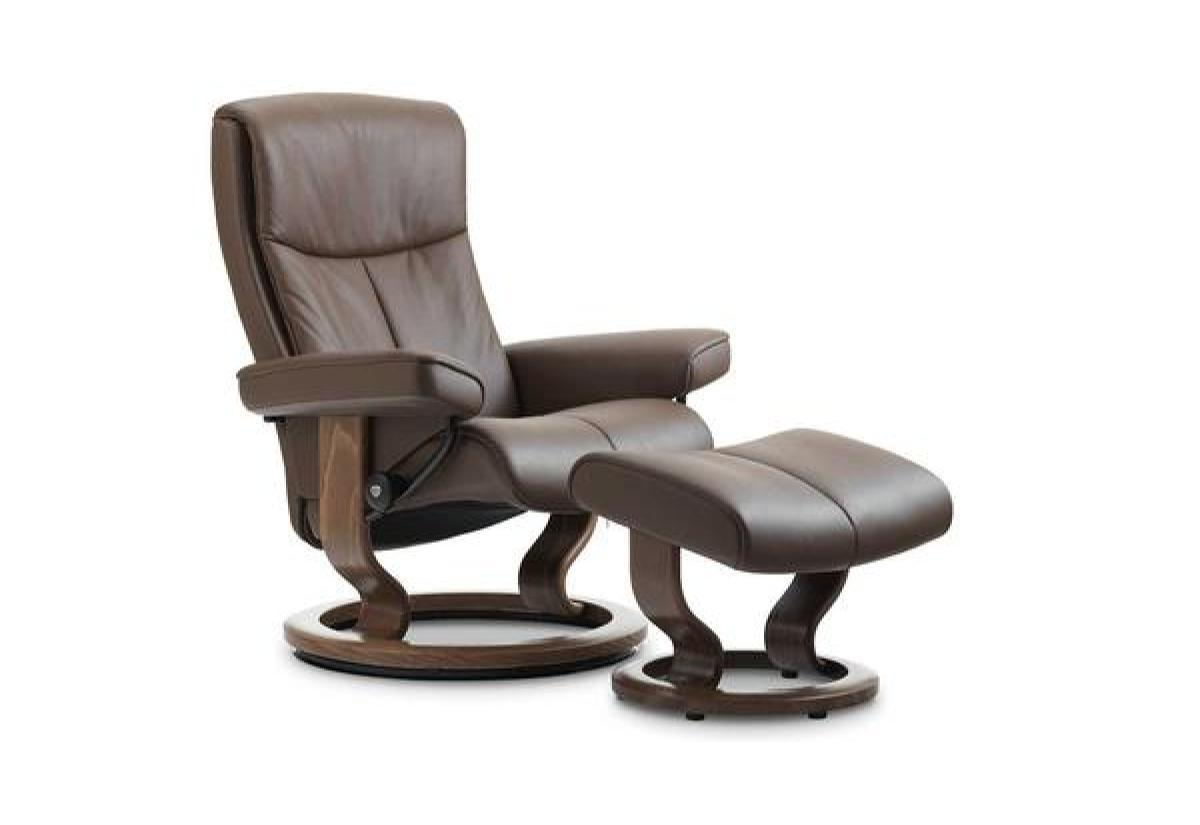 Peace (L) Recliner & Ottoman w/ Classic Base (Stressless by Ekornes)