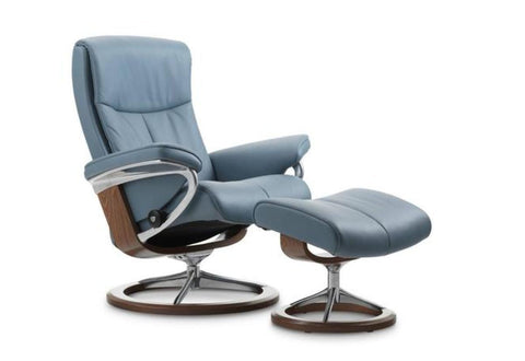 Peace (M) Recliner & Ottoman w/ Signature Base (Stressless by Ekornes)