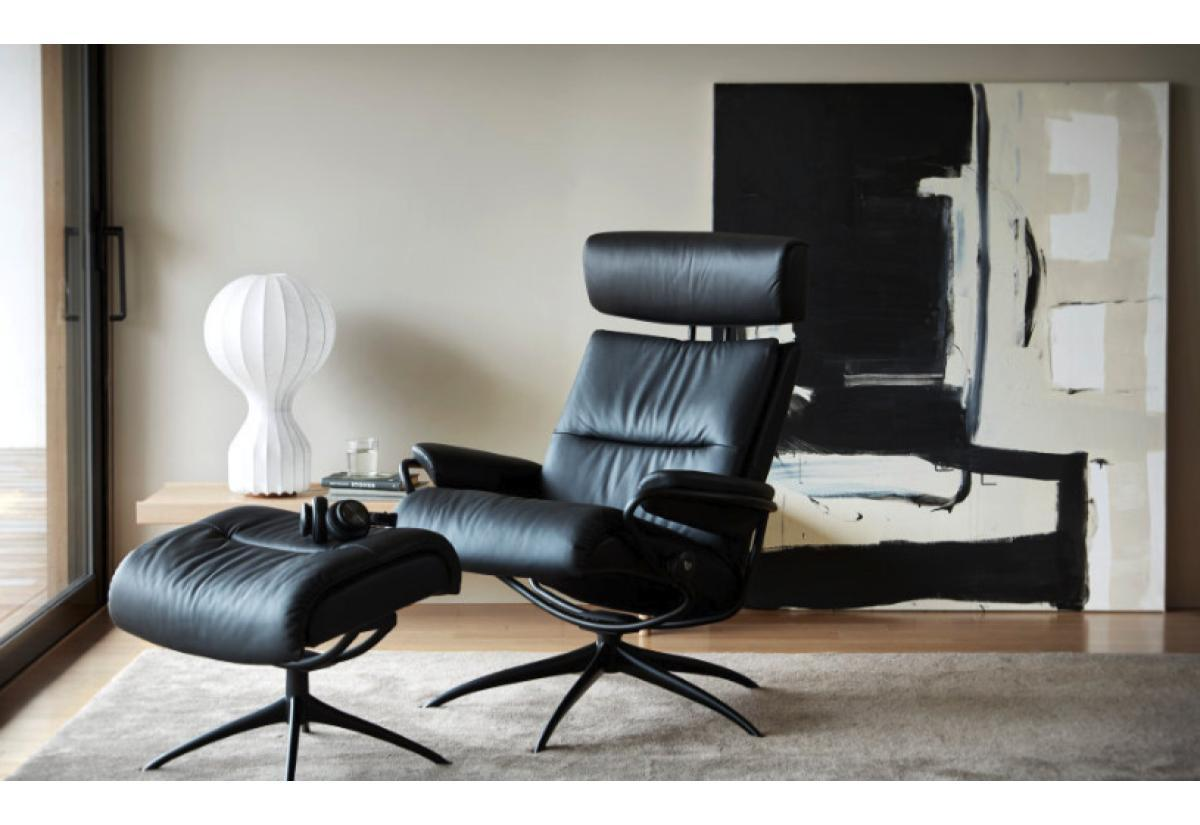 Tokyo High Back High Base Chair And Ottoman Stressless By