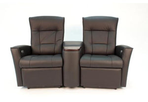 Relaxer Ulstein Reclining Love Seat with Console (Fjords)
