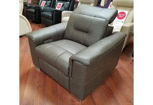Keoni Power Recliner (Palliser) w/ Power Headrest 3000 Leather Solana Mountain Floor Model