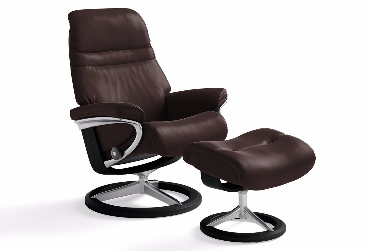 sunrise large signature recliner ottoman stressless by ekornes