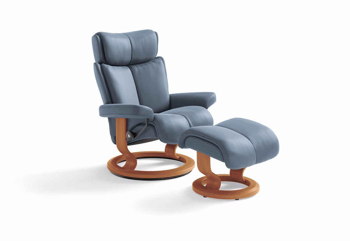 Magic Small Classic Recliner & Ottoman (Stressless by Ekornes)