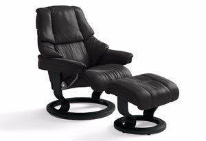 Reno Medium Signature Recliner & Ottoman (Stressless by Ekornes)