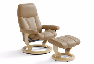 Consul Large Classic Recliner & Ottoman (Stressless by Ekornes)
