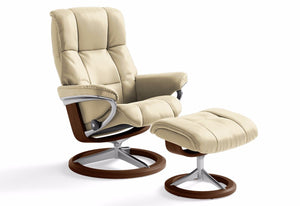 Mayfair Medium Signature Recliner & Ottoman (Stressless by Ekornes)