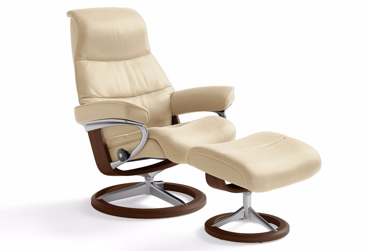 View Large Signature Recliner Amp Ottoman Stressless By