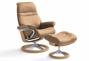 Sunrise Large Signature Recliner & Ottoman (Stressless by Ekornes)