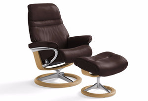 Sunrise Small Signature Recliner & Ottoman (Stressless by Ekornes)