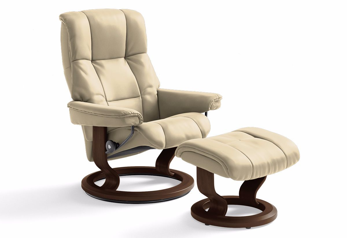 mayfair small classic recliner ottoman stressless by ekornes recliners la. Black Bedroom Furniture Sets. Home Design Ideas