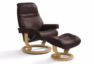 Sunrise Large Classic Recliner & Ottoman (Stressless by Ekornes)