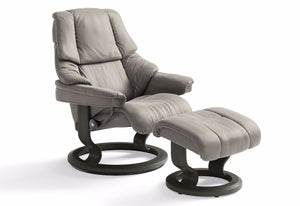 Reno Small Classic Recliner & Ottoman (Stressless by Ekornes)