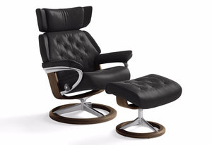 Skyline Small Signature Recliner & Ottoman (Stressless by Ekornes)