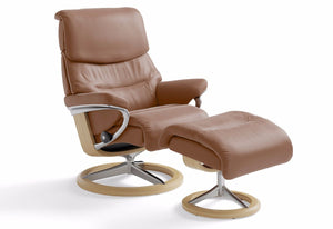 Capri Small Signature Recliner & Ottoman (Stressless by Ekornes)