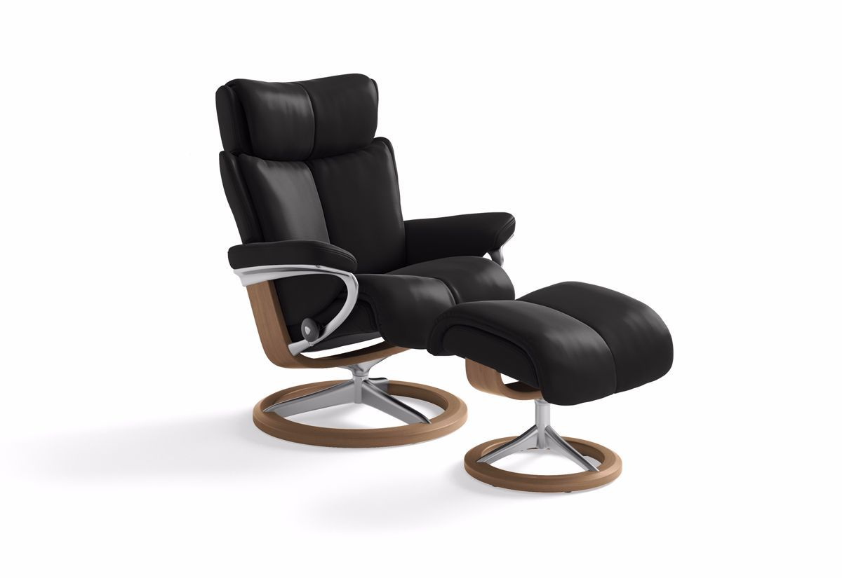 Magic Large Signature Recliner & Ottoman (Stressless by Ekornes)