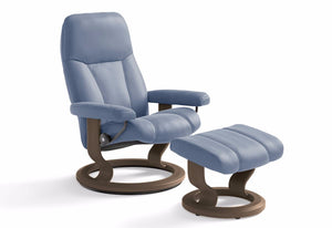 Consul Small Classic Recliner & Ottoman (Stressless by Ekornes)