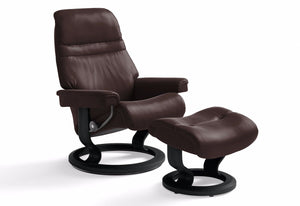 Sunrise Small Classic Recliner & Ottoman (Stressless by Ekornes)