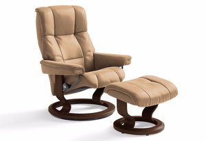 Mayfair Medium Classic Recliner & Ottoman (Stressless by Ekornes)