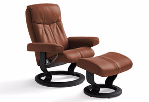 Peace Large Classic Recliner & Ottoman (Stressless by Ekornes)