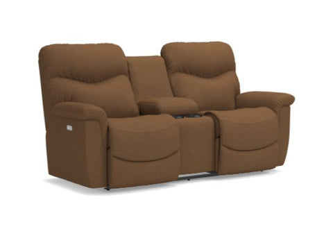 James Reclining Loveseat W/Console (La-Z-Boy)