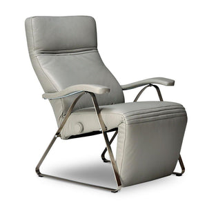 Kitty Recliner (Lafer) Light Grey Leather