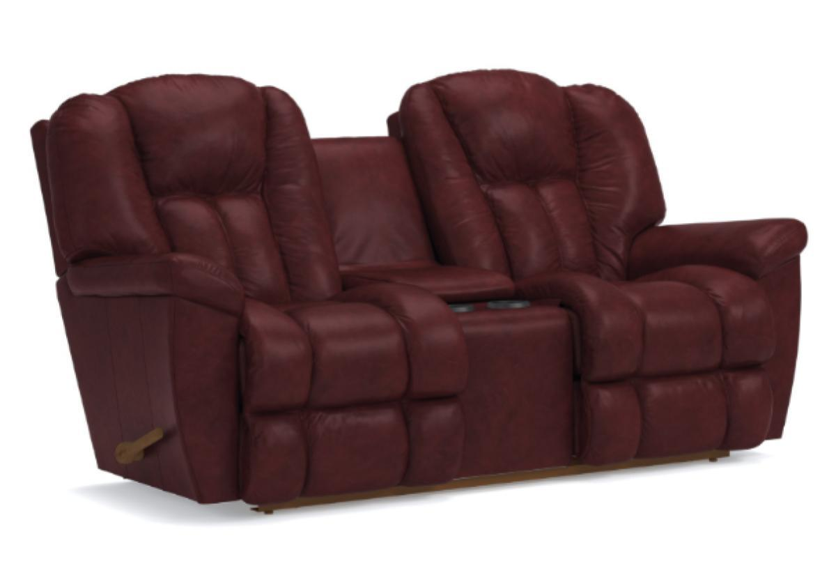 Pleasant Maverick Reclina Way Full Reclining Loveseat W Console La Z Boy Alphanode Cool Chair Designs And Ideas Alphanodeonline