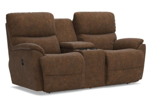 Trouper Reclining Loveseat W/Console (La-Z-Boy)