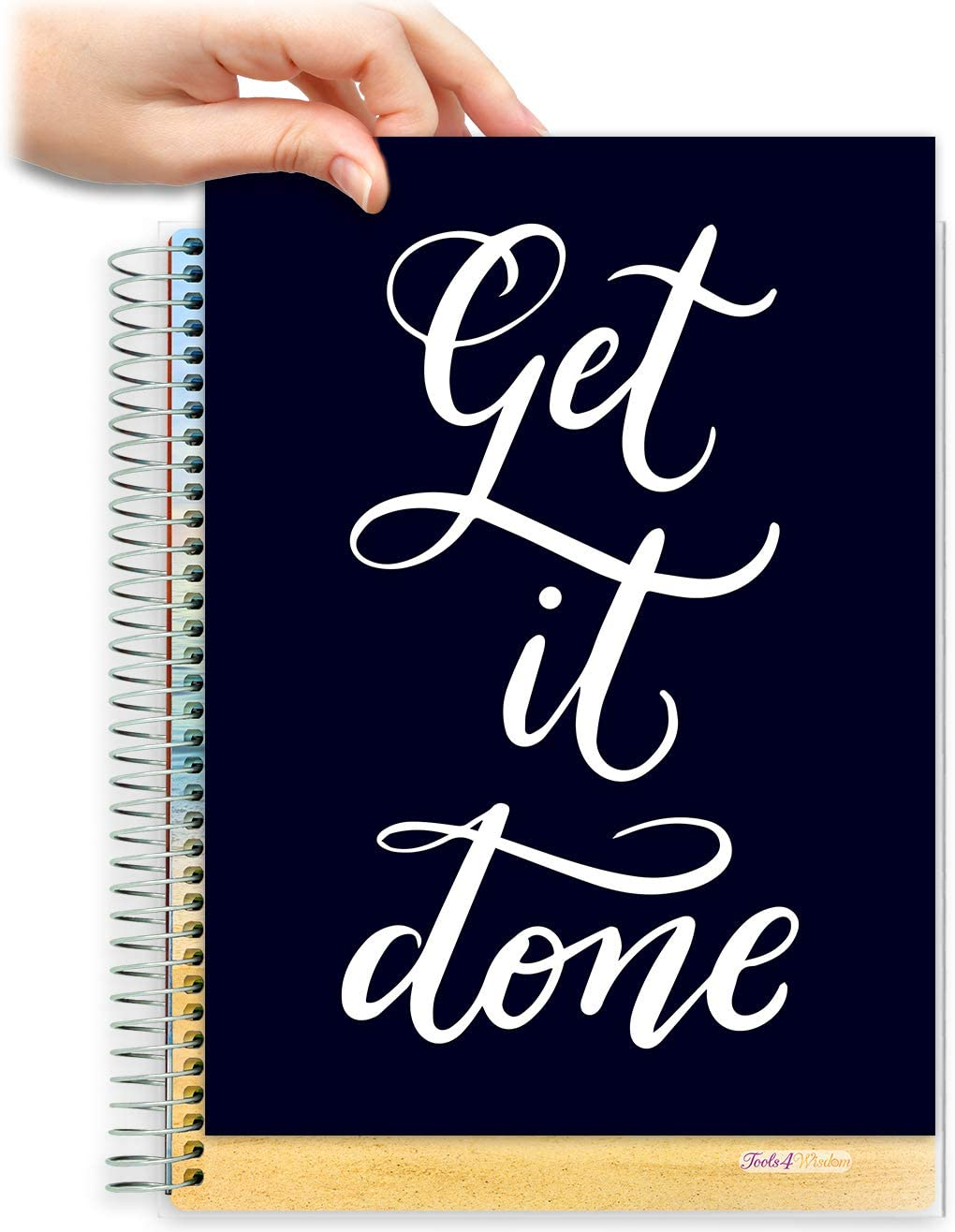 8.5x11 Customizable Softcover Planner • April 2021 to June 2022 Academic Year • Get It Done