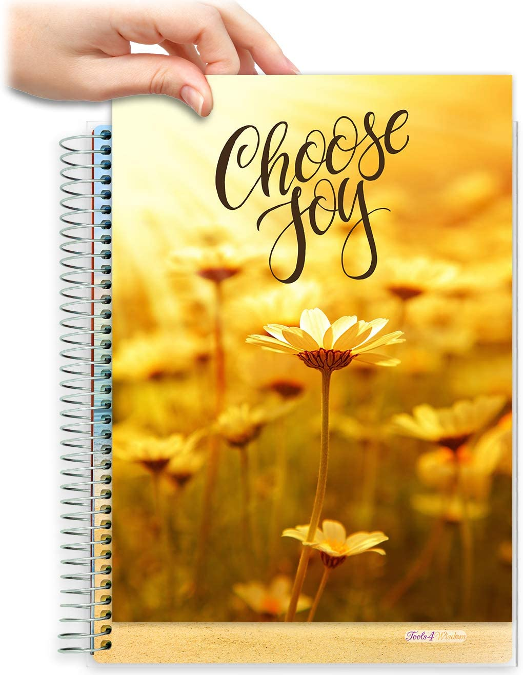 8.5x11 Customizable Softcover Planner • April 2021 to June 2022 Academic Year • Golden Daisies