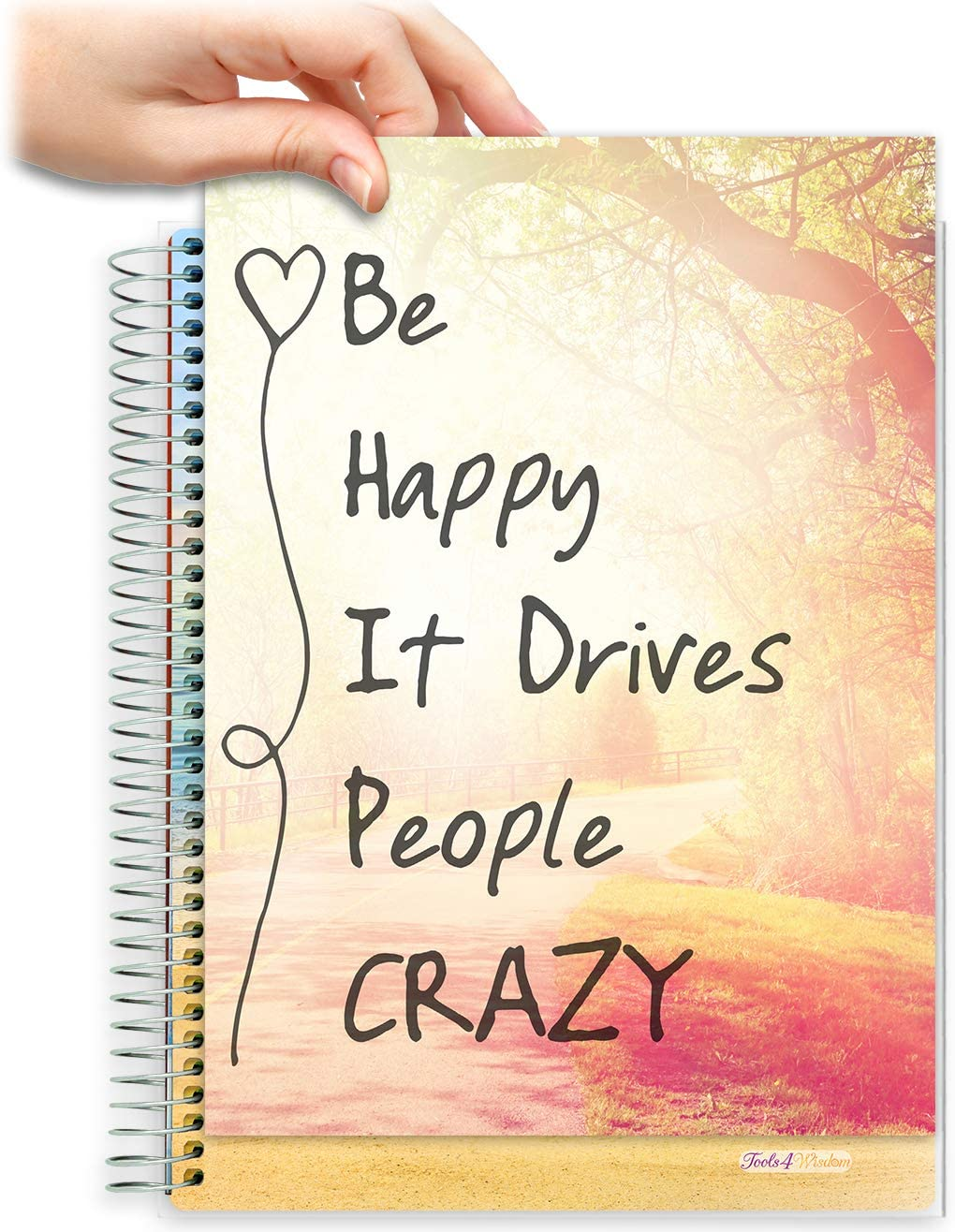 8.5x11 Customizable Softcover Planner • April 2021 to June 2022 Academic Year •  Be Happy