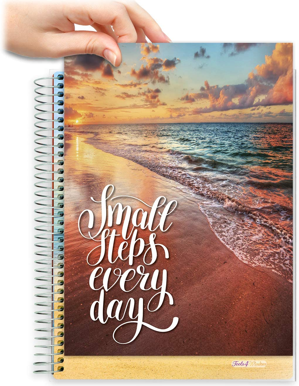 8.5x11 Customizable Softcover Planner • April 2021 to June 2022 Academic Year • Small Steps