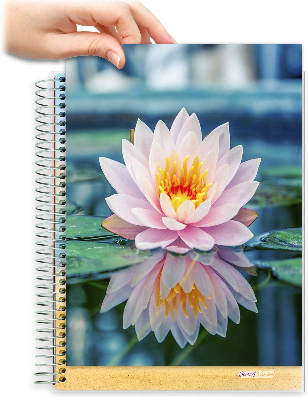 8.5x11 Customizable Softcover Planner • April 2021 to June 2022 Academic Year • Pink Lotus