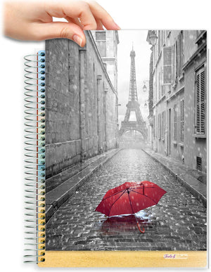 8.5x11 Customizable Softcover Planner • April 2021 to June 2022 Academic Year • Paris
