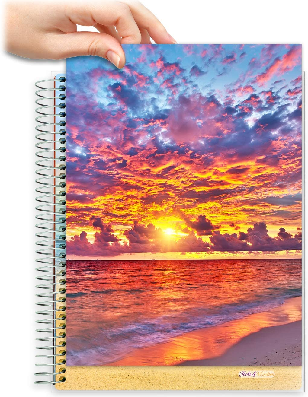 8.5x11 Customizable Softcover Planner • April 2021 to June 2022 Academic Year •  Warm Sunset