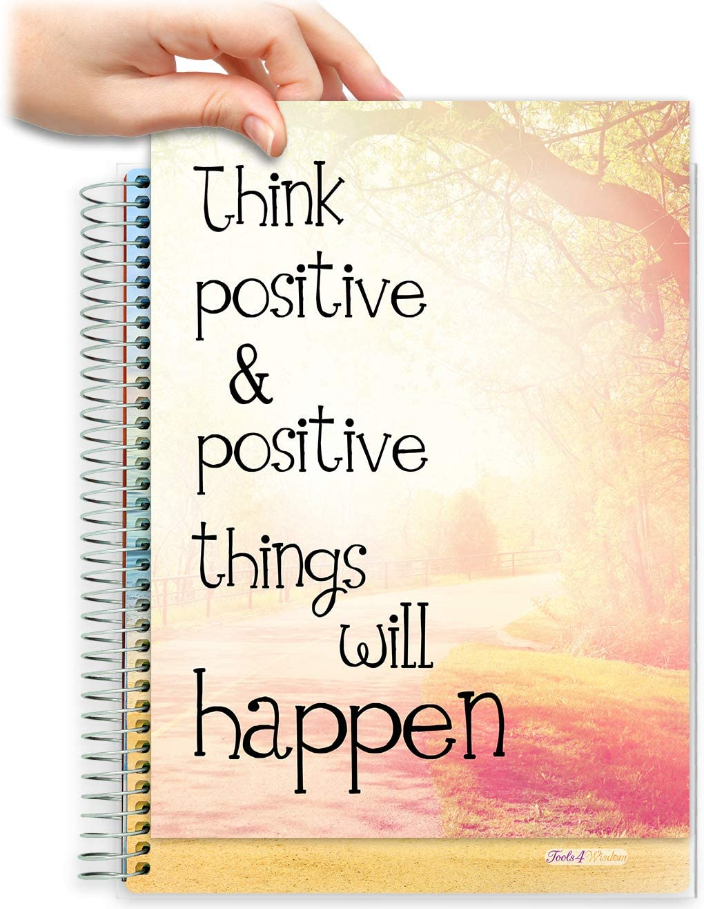 8.5x11 Customizable Softcover Planner • April 2021 to June 2022 Academic Year • Think Positive