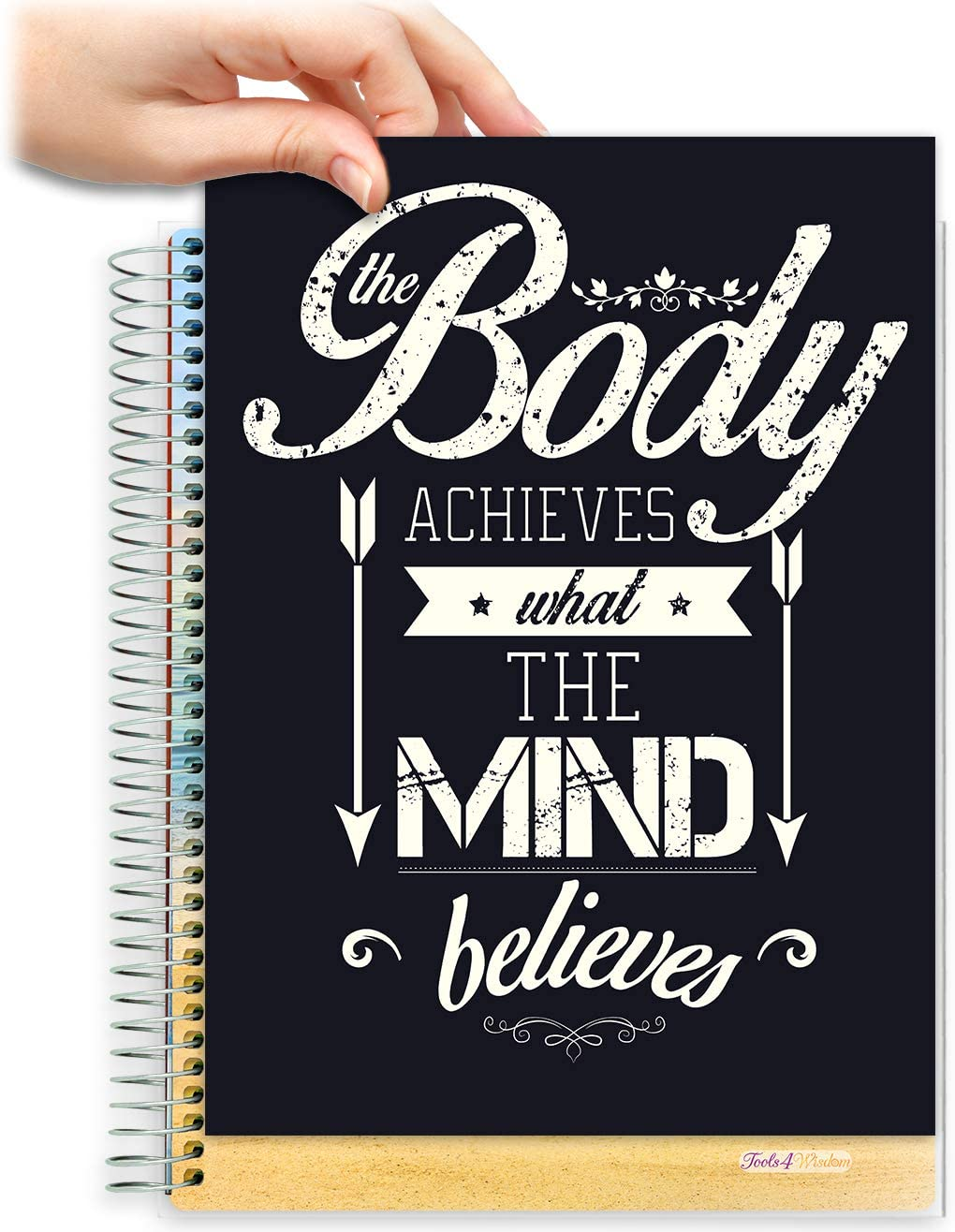 8.5x11 Customizable Softcover Planner • April 2021 to June 2022 Academic Year • Body Mind Quote