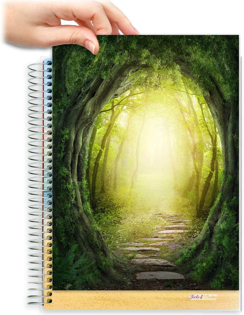 8.5x11 Customizable Softcover Planner • April 2021 to June 2022 Academic Year • Magic Forest