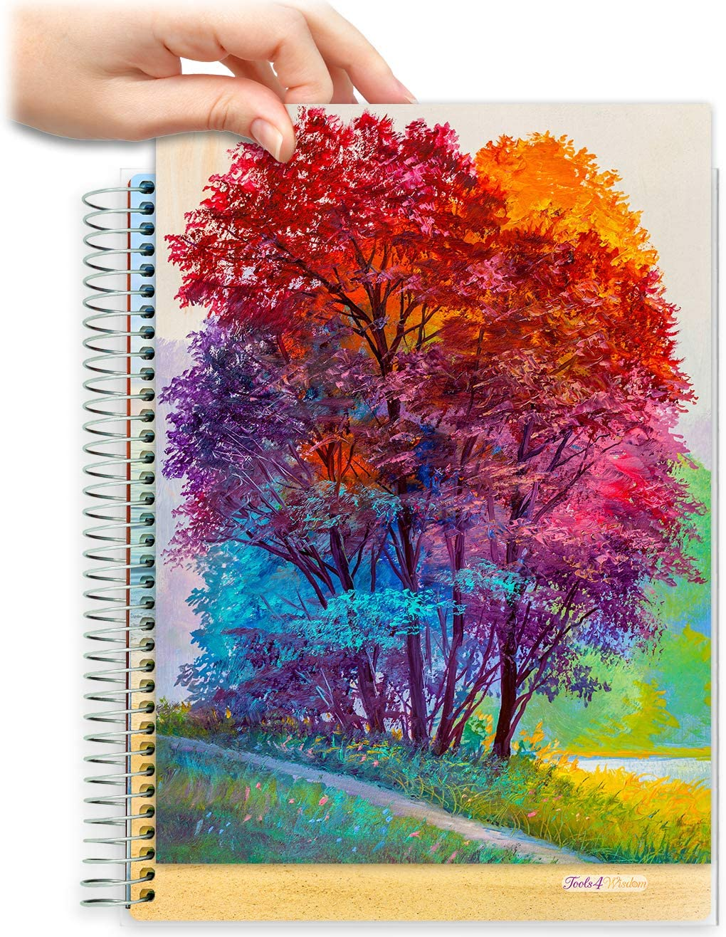 8.5x11 Customizable Softcover Planner • April 2021 to June 2022 Academic Year • Oil Painting Forest