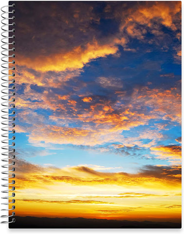 "July 2020 - June 2021 Softcover Planner - 8.5"" x 11"" - Twilight Sunrise Cover"