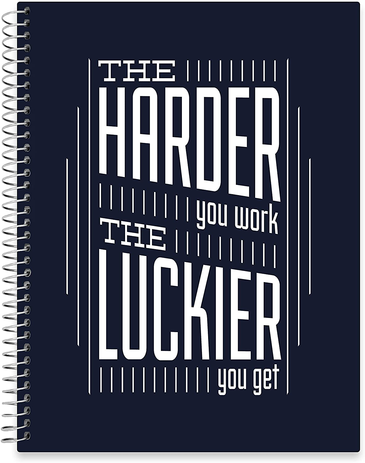 "July 2020 - June 2021 Softcover Planner - 8.5"" x 11"" - Hard Work 4 Luck Cover"