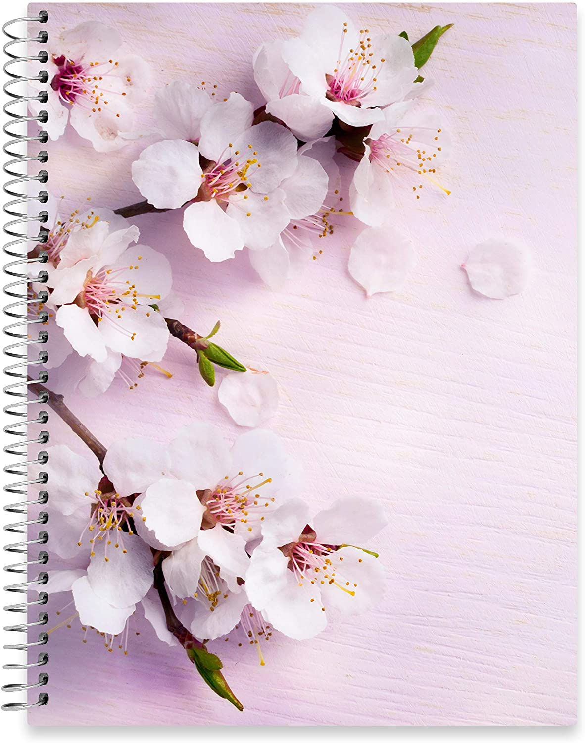 "July 2020 - June 2021 Softcover Planner - 8.5"" x 11"" - Cherry Blossoms Cover"