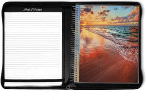 April 2021 to June 2022 Academic Year • 8.5x11 Planner w/ Executive Folio Cover • Sandy Sunset