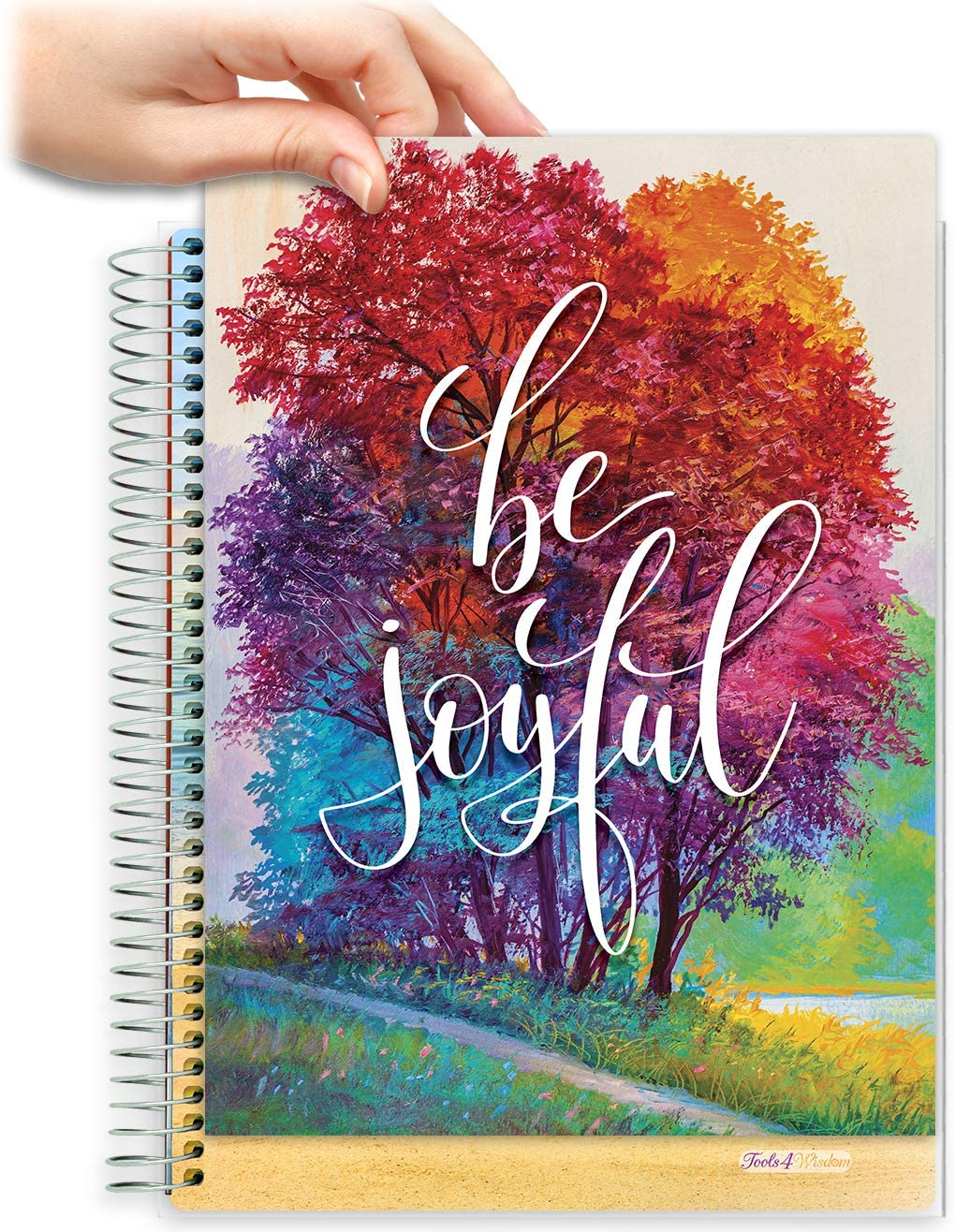 8.5x11 Customizable Softcover Planner • April 2021 to June 2022 Academic Year •  Be Joyful