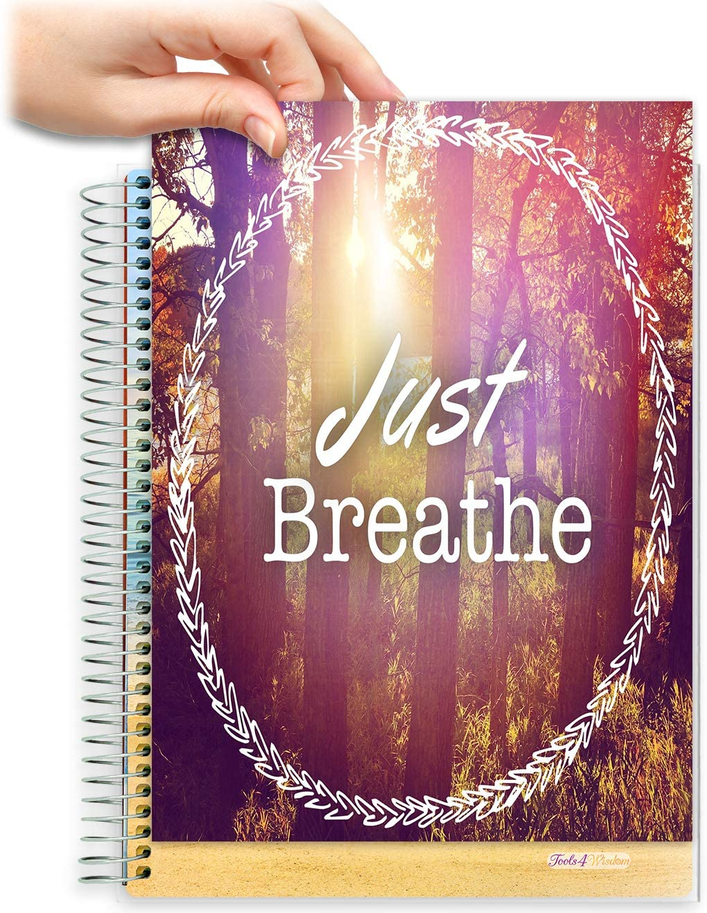 8.5x11 Customizable Softcover Planner • April 2021 to June 2022 Academic Year • Just Breathe