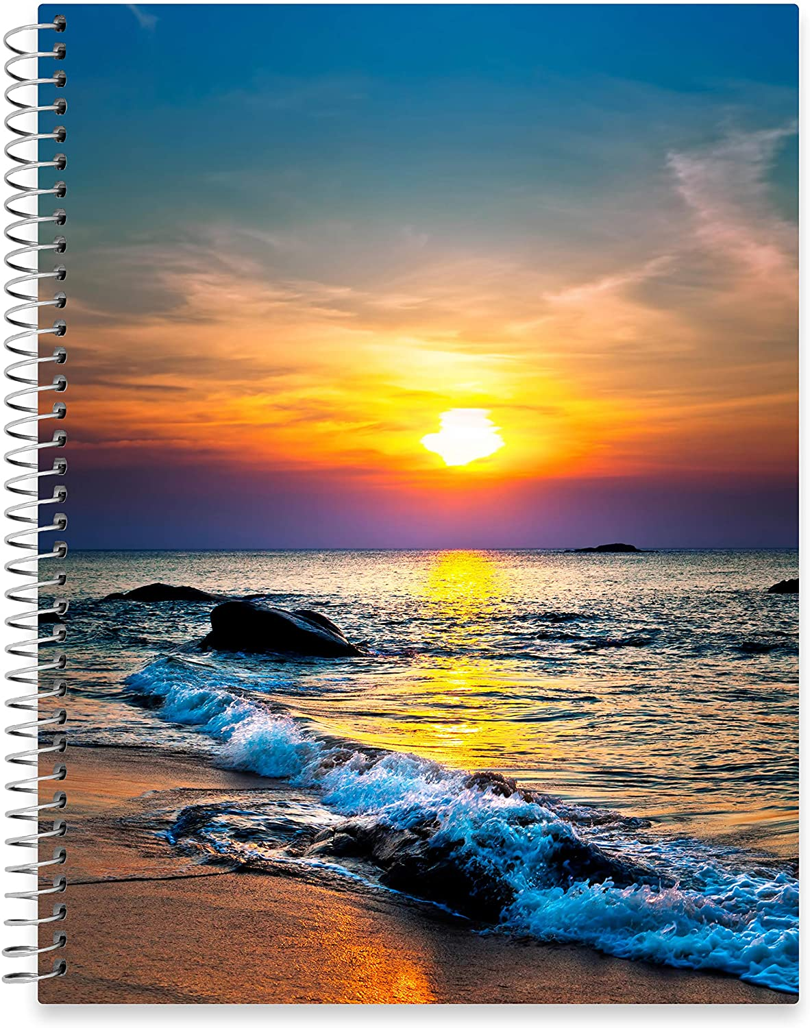 "July 2020 - June 2021 Softcover Planner - 8.5"" x 11"" - Sea Sunset Cover"