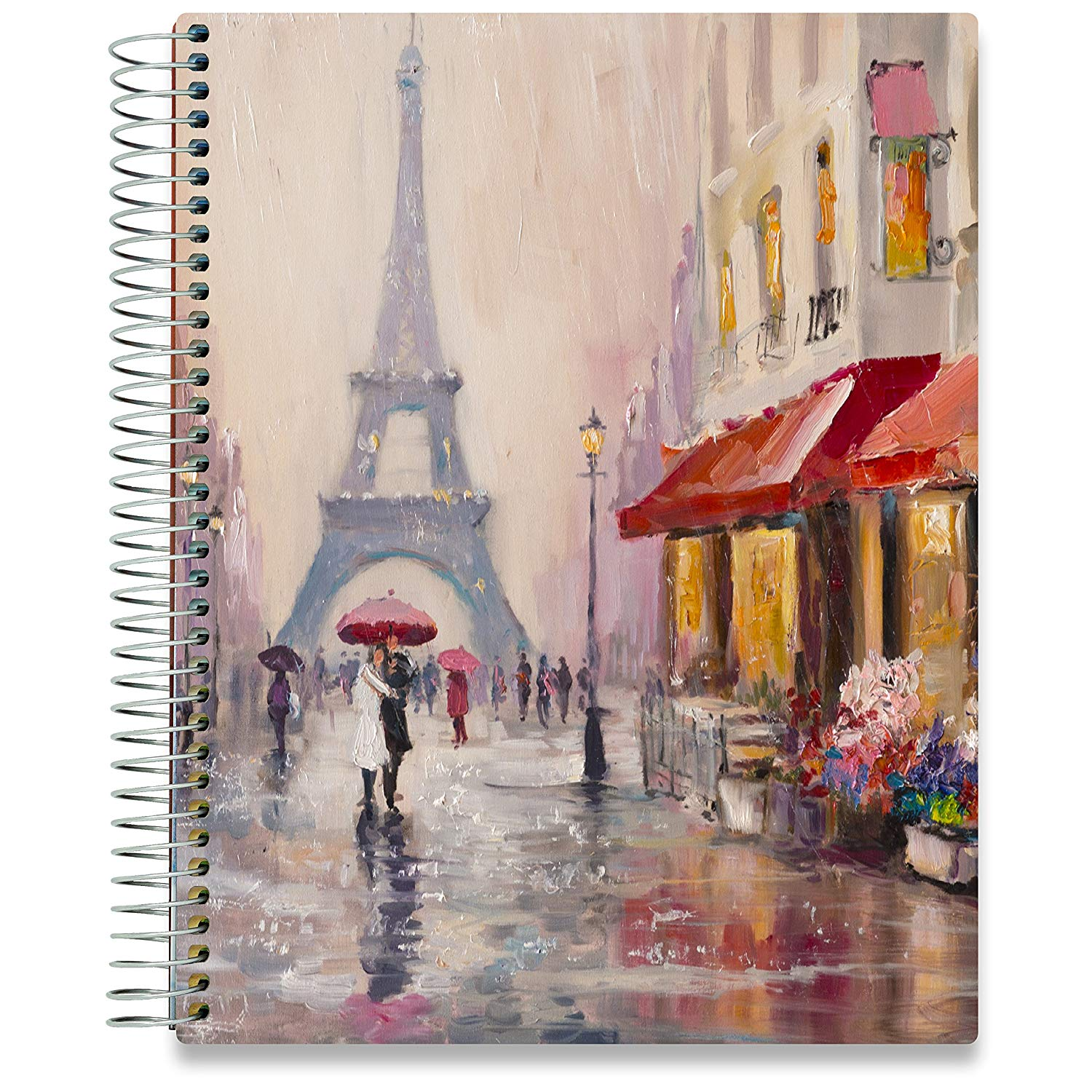 NEW: April 2020-2021 Planner - 8.5x11 - Couple in Paris-Office Product-Tools4Wisdom