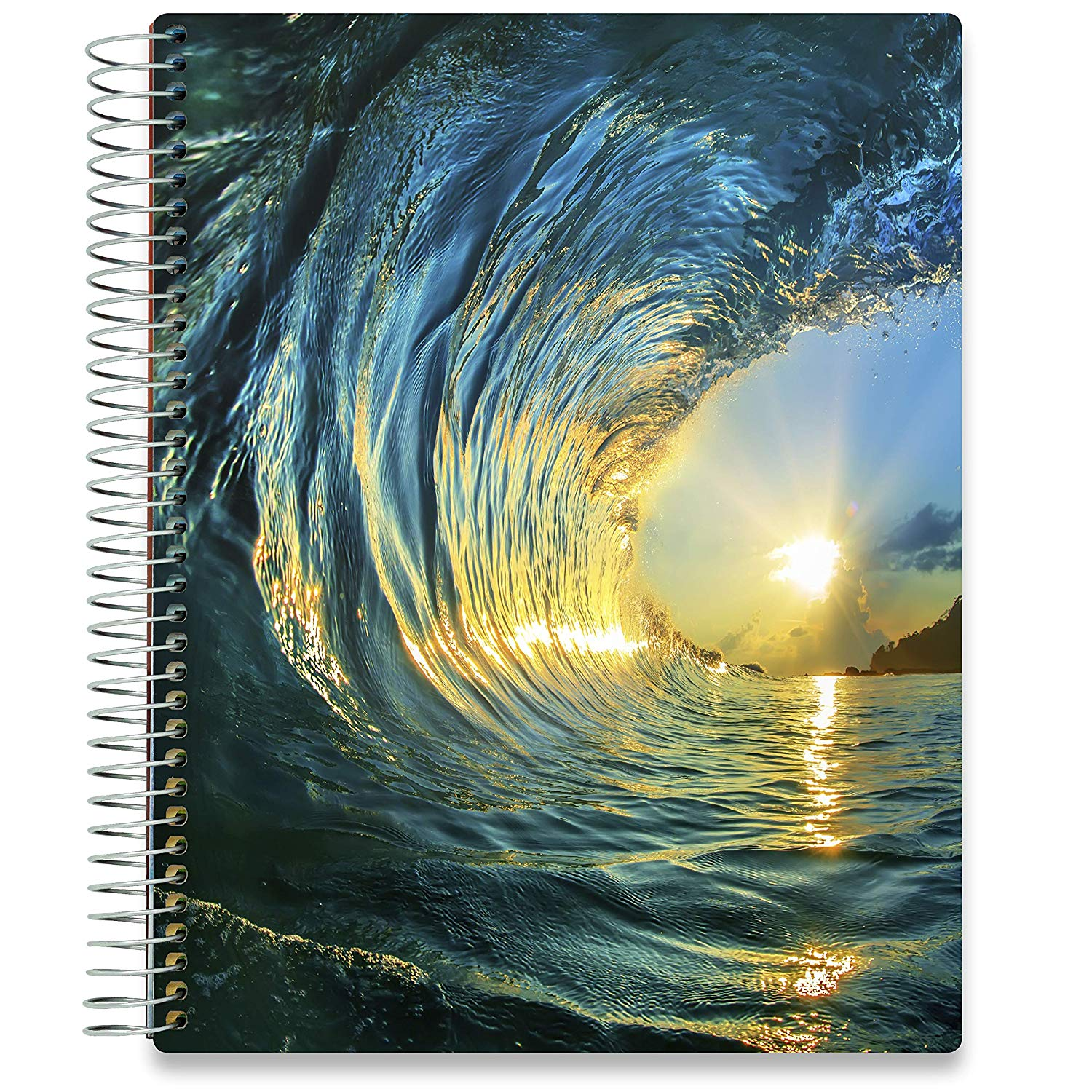 NEW: April 2020-2021 Planner - 8.5x11 - Ocean Wave-Office Product-Tools4Wisdom