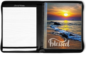 April 2021 to June 2022 Academic Year • 8.5x11 Planner w/ Executive Folio Cover • Blessed Beach