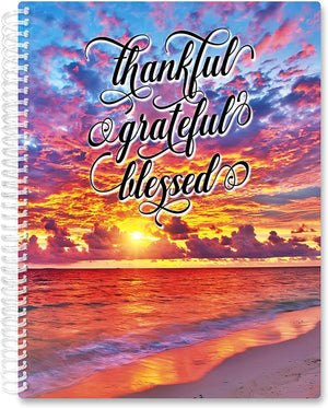 March 2021- Feb 2022 Softcover Planner - 8.5 x 11 - Warm Sunset w Quote