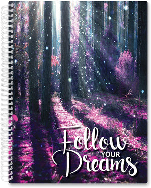 March 2021- Feb 2022 Softcover Planner - 8.5 x 11 - Follow Your Dreams v2